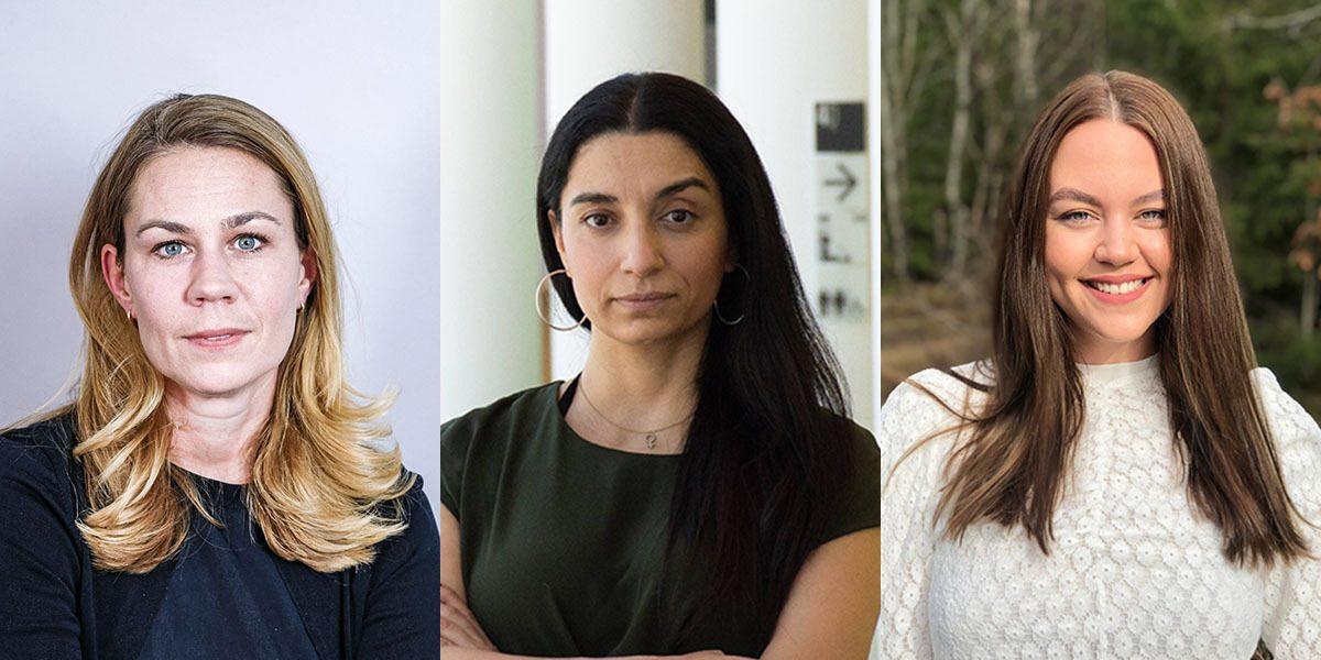 Anna Sundström, generalsekreterare för Olof Palmes internationella center; Evin Incir, Europaparlamentariker (S), och Tajma Sisic, internationell ledare i SSU vill se ett kraftfullare svenskt agerande för att stoppa våldet i Palestina.