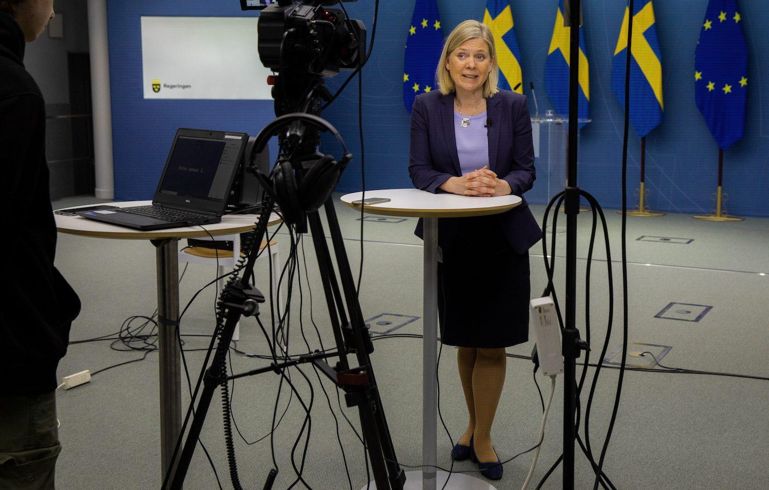 Finansminister Magdalena Andersson ledde den 8 april sitt första möte som ordförandeför Internationella valutafondens högsta rådgivande organ, IMFC.