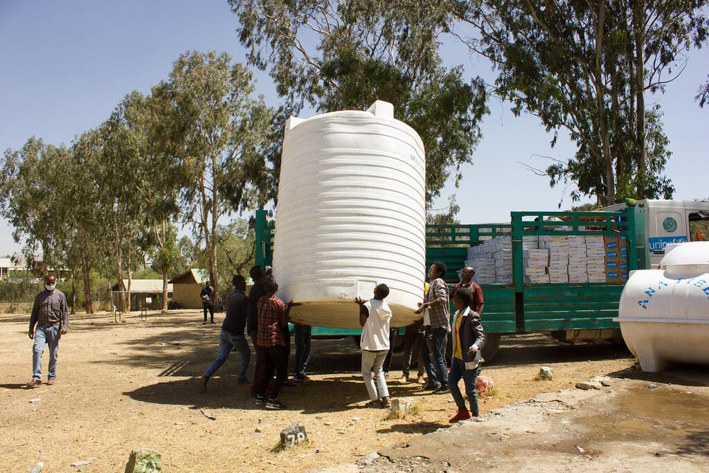 I början av februari kunde FN:s barnfond leverera en hjälpleverans till staden Shire, i Tigray, i Etiopien.