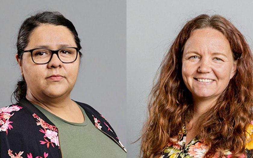 Vänsterpartiets Lorena Delgado Varas ochYasmine Posio vill att regeringen verkar för slopad patent på covid-19-vaccin och en större satsning på bistånd för att bromsa de negativa effekterna av pandemin.
