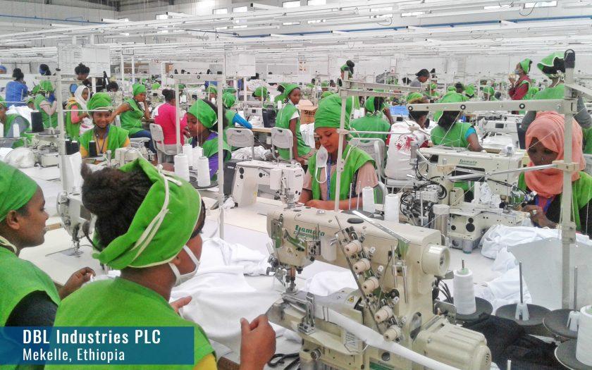 DBL Groups textilfabrik i Mekelle öppnade dörrarna för produktion 2018, men fabriken är långt ifrån klart och nu har all verksamhet avstannat på grund av konflikten i Etiopien.