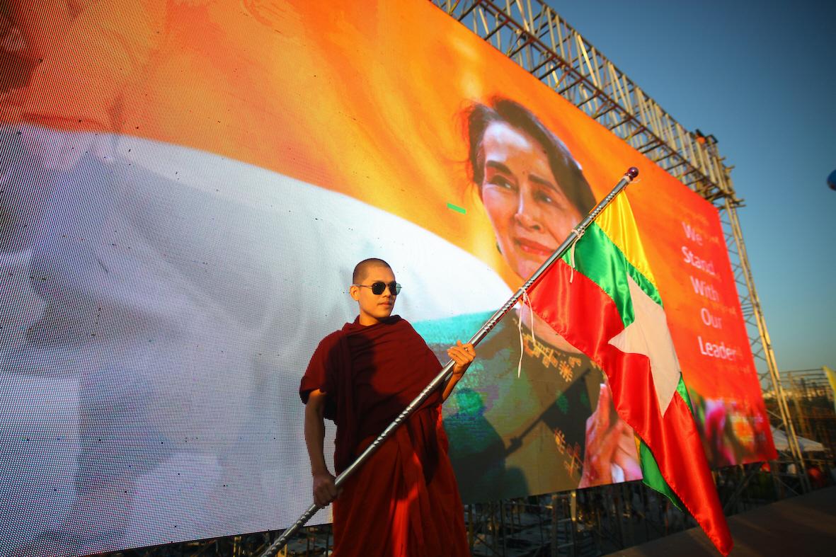 Aung San Sui Kyi och hennes regeringsparti tycks vinna valet i Myanmar, på bekostnad av partier som representerar de etniska minoriteterna.