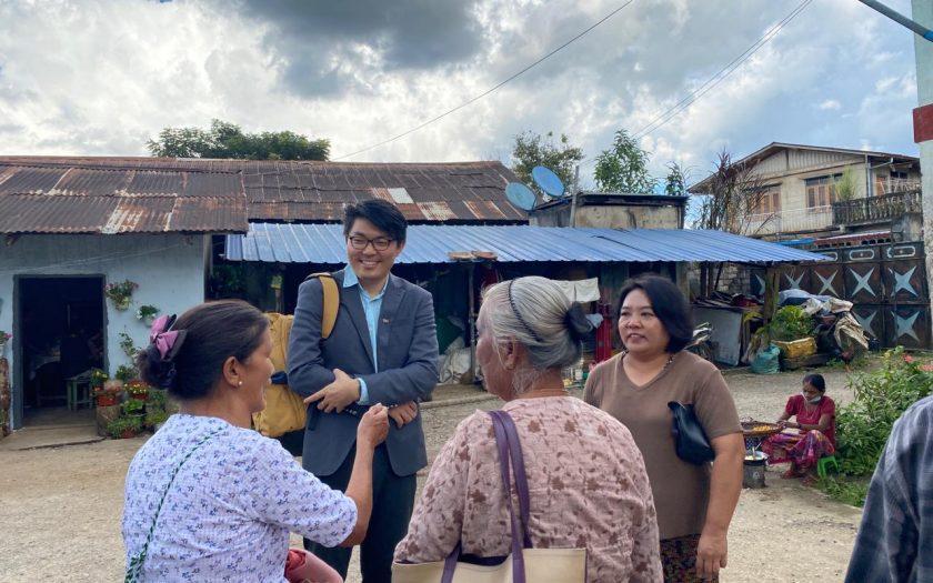 Maw Htun Aung kämpar för de etniska minoriteternas rättigheter i valet i Myanmar den 8 november 2020.