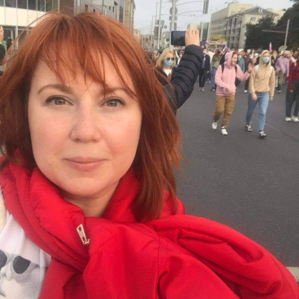 Julia Mickiewicz är förbundssekreterare för ABF i Belarus och har dömts till 15 dagars fängelse, med risk för förlängning.