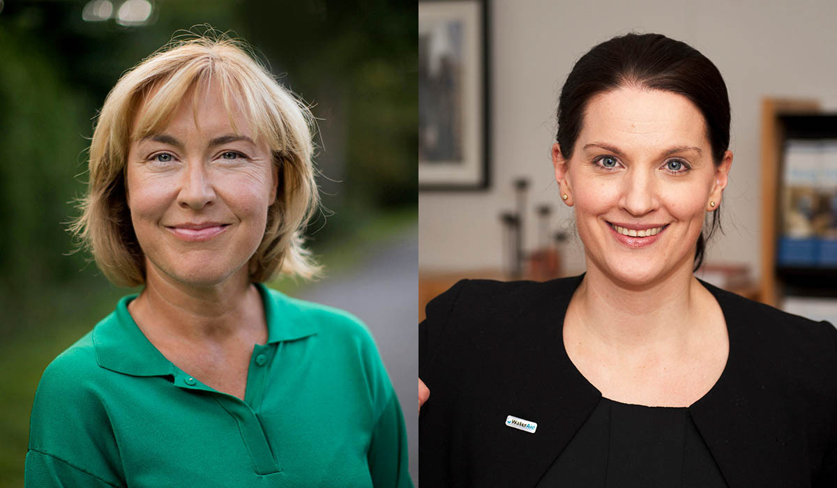 Pernilla Baralt, generalsekreterare UNICEF Sverige och Cecilia Chatterjee-Martinsen, generalsekreterare WaterAid Sverige