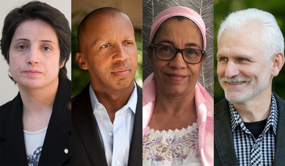 Narsrin Sotoudeh (Iran), Bryan Stevenson (USA), Lottie Cunningham Wren (Nicaragua), Ales Bialiatski (Belarus) är årets mottagare av Right Livelihood Award.