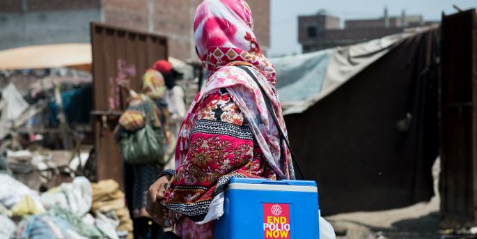 Polio är sedan augusti 2020 utrotat i Afrika, men finns kvar i Pakistan och Afghanistan.