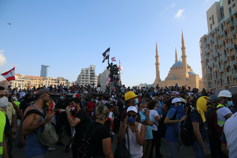 Helgens demonstrationer 8-9 augusti ledde till slut till att Libanons regering avgick efter explosionen i Beiruts hamn den 4 augusti.