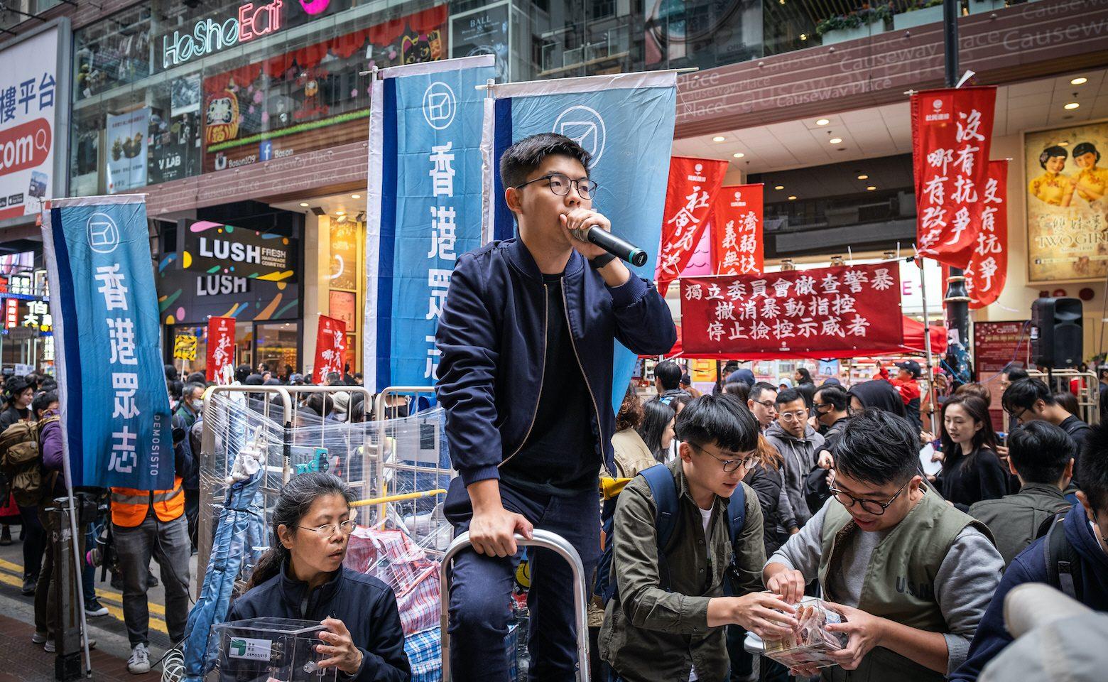 Joshua Wong trädde fram som en av Hongkongs främsta demokratikämpar redan under paraplyrevolutionen 2014. Han tänker inte ge upp inför Fastlandskinas föreslagna säkerhetslag.