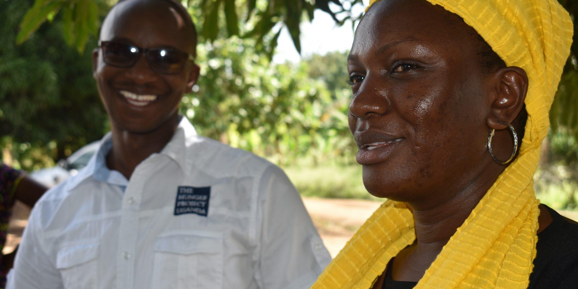 Irene Naikaali, programchef för Hungerprojektet i Uganda, hoppas på ett förändrat tänk kring jordbruket för att säkerställa matsäkerhet i tider av klimatförändringar.