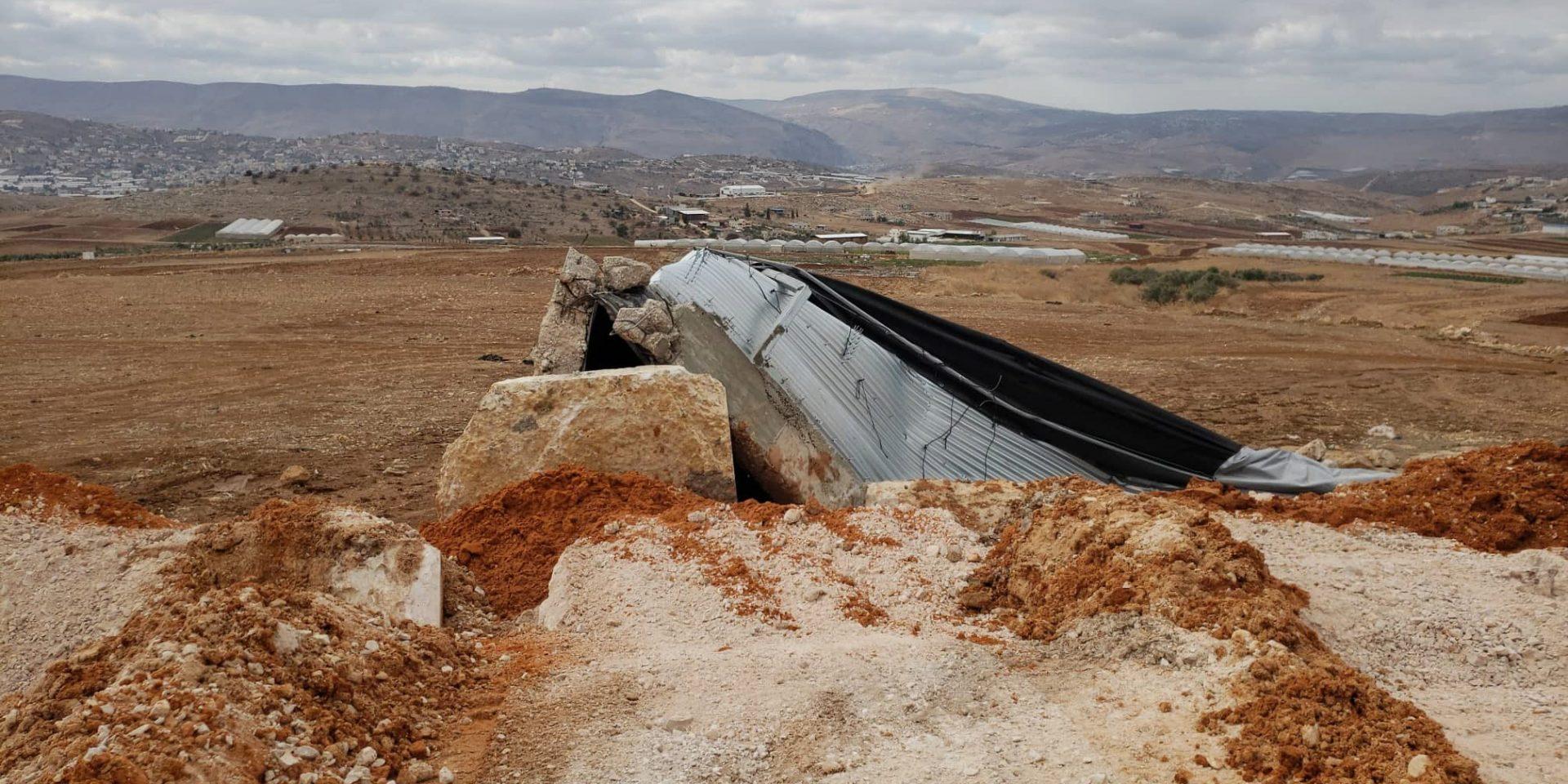 200 familjer fick vatten från den svenskfinansierade vattenreservoaren som nu förstörts av israelisk militär.