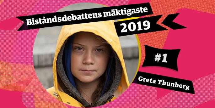 Greta Thunberg har med sitt globala engagemang för klimatet gjort stort genomslag under 2019. Hon är därför biståndsdebattens mäktigaste 2019.