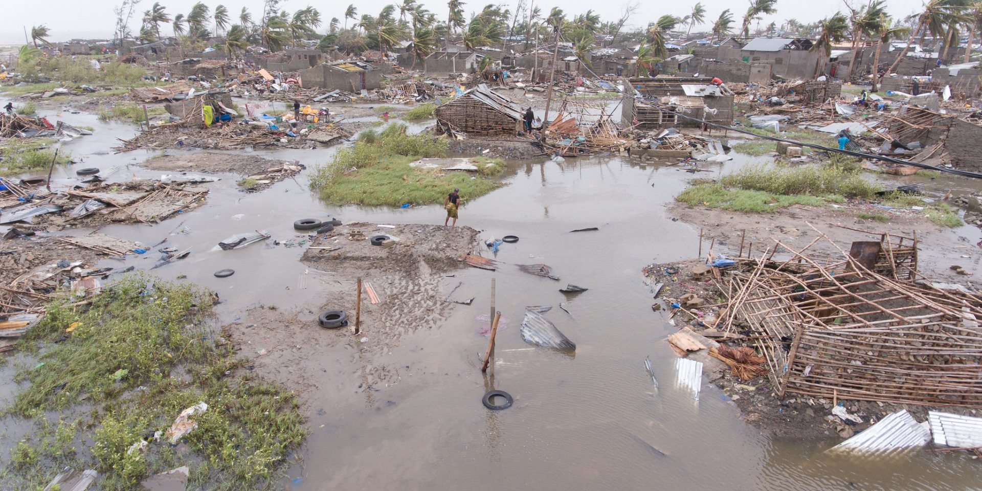 Förstörelsens efter den tropiska stormen Idai i Moçambique tidigare i år.