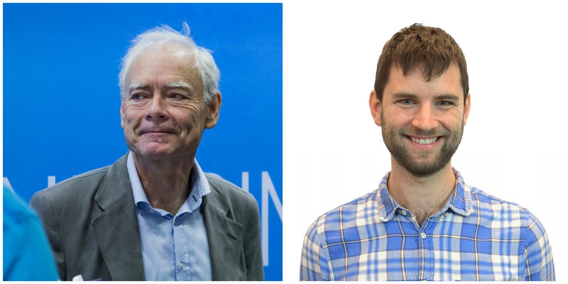 Göran och David Collste, professor i etik och doktorand i hållbarhet.
