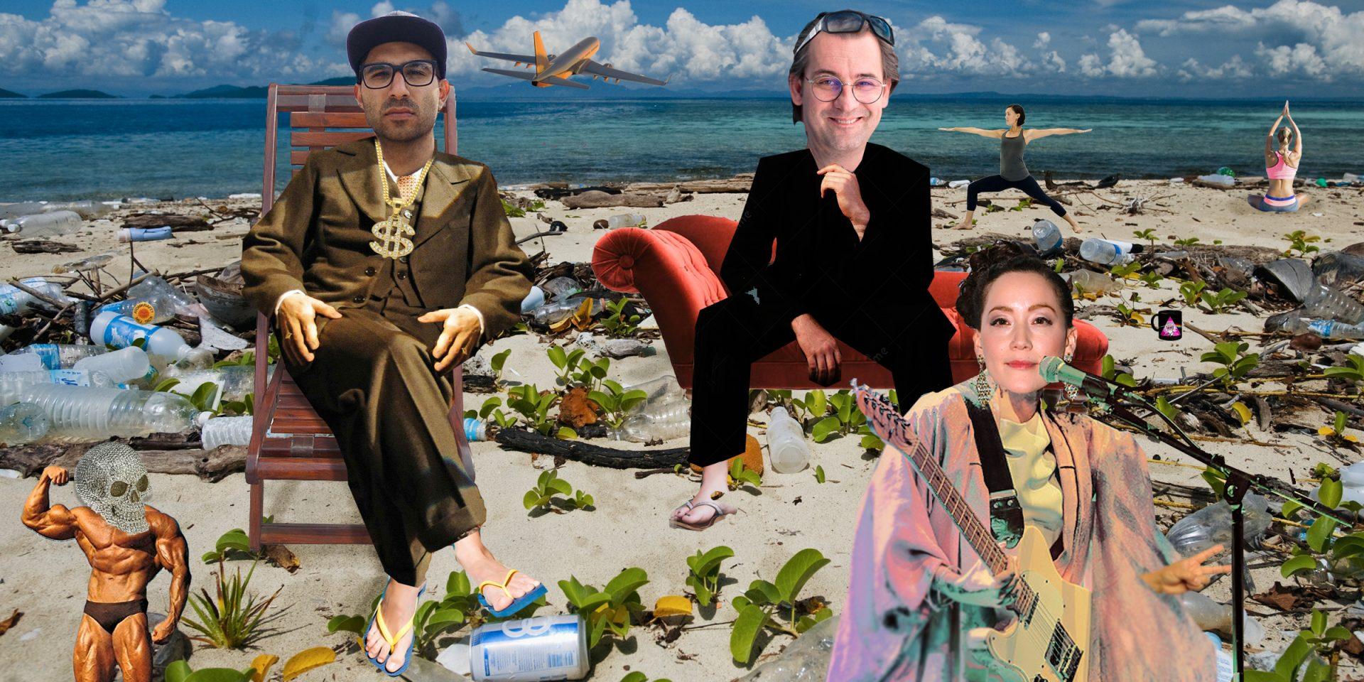 Lyssna på terapisessionen om klimatet med Ahmed Al-Qassam, Sasja Beslik och Maia Hirasawa.