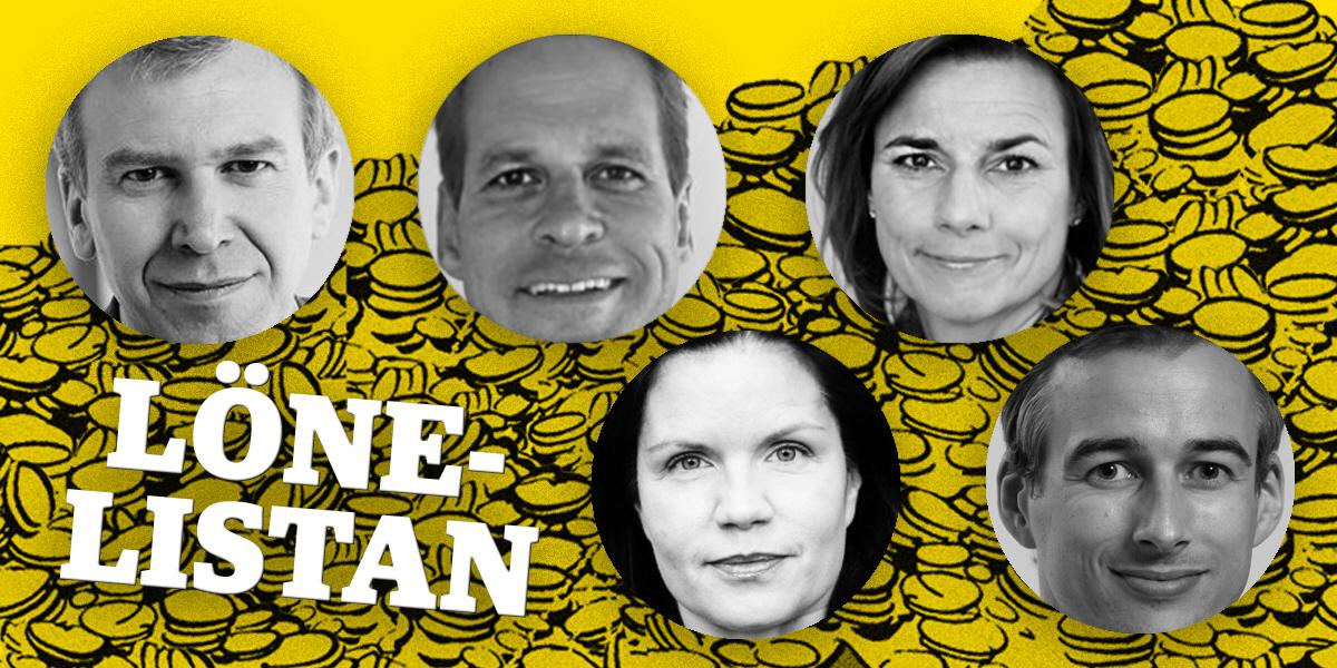 Yves Leterme (Idea), Gerth Svensson (Swedfund) och Isabella Lövin (biståndsminister) toppar listan. Lägst löner har Louise Lindfors (Afrikagrupperna) och Richard Nordström (Hand in Hand).