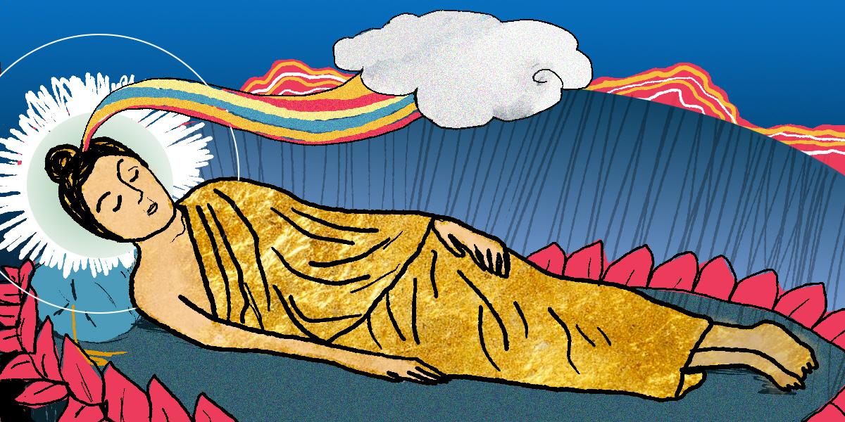 På Paranirvanadagen uppmärksammar buddhister att Buddha nådde Paranirvana.
