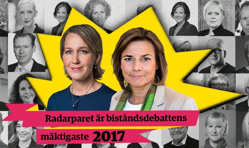 Chefer och politiker i topp när årets mäktigaste i biståndsdebatten koras.