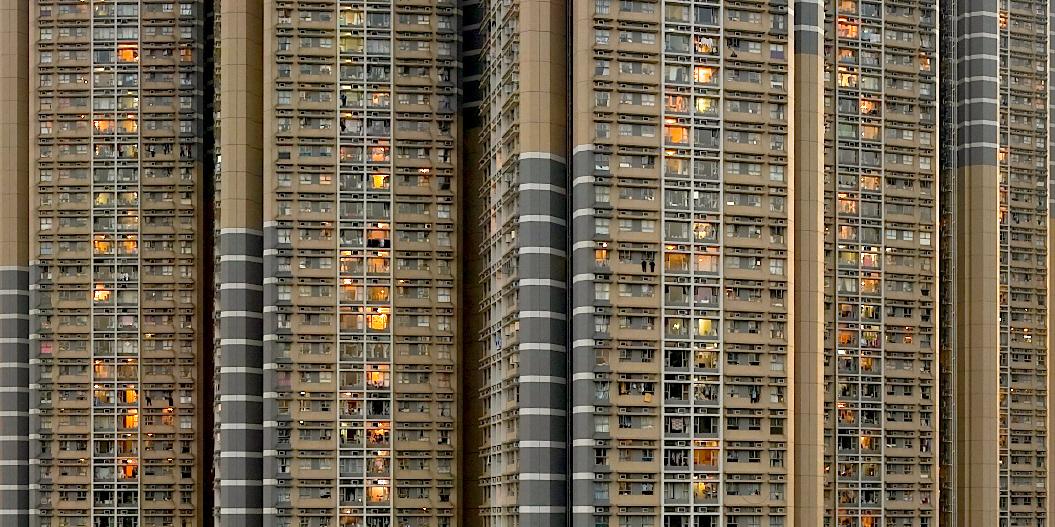 Trångt boende i Shun Lee, norr om centrala Hongkong.