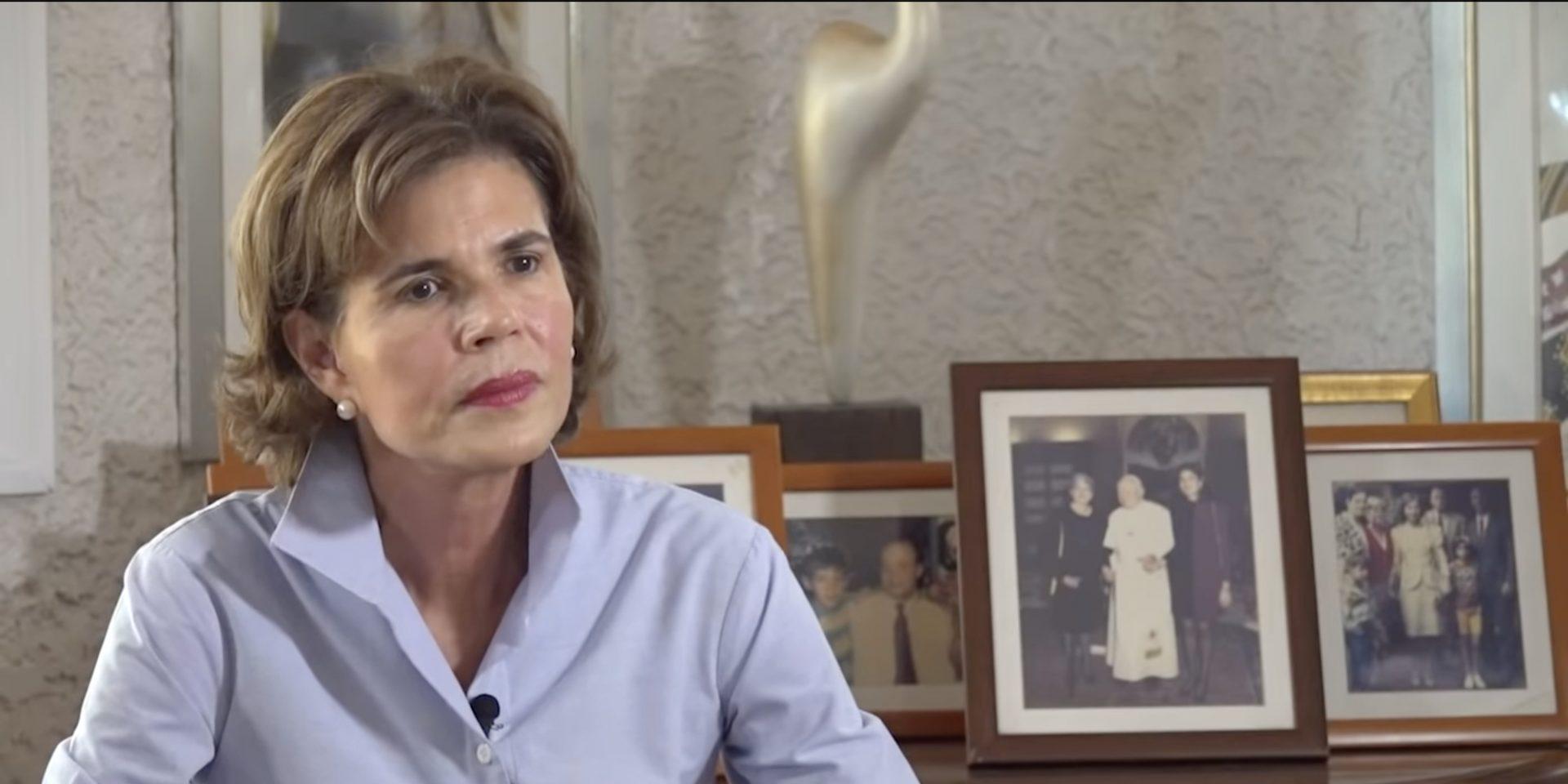 Den 10 maj gjorde Cristiana Barrios de Chamorro en tv-intervju med Confidencial, i Nicaragua där hon tydligt lade fram sina planer för att ställa upp i valet. Bilden är en skärmdump från intervjun.