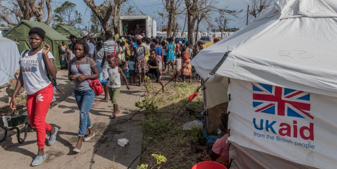 Mozambique, som drabbades hårt av orkanen Idai 2019, är ett av de 34 länder som får fortsatt stöd av Storbritannien de kraftiga nedskärningarna till trots.