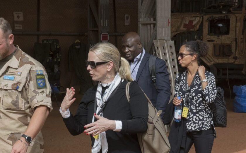 I januari 2020 besökte Diana Janse de svenska FN-soldaterna i Mali.