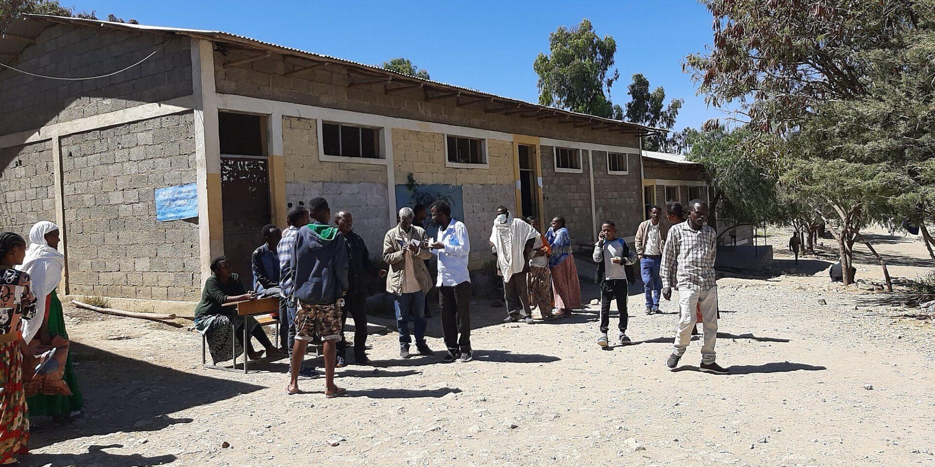 Internflyktingar i Tigray tar tillflykt till skola i Mekelle