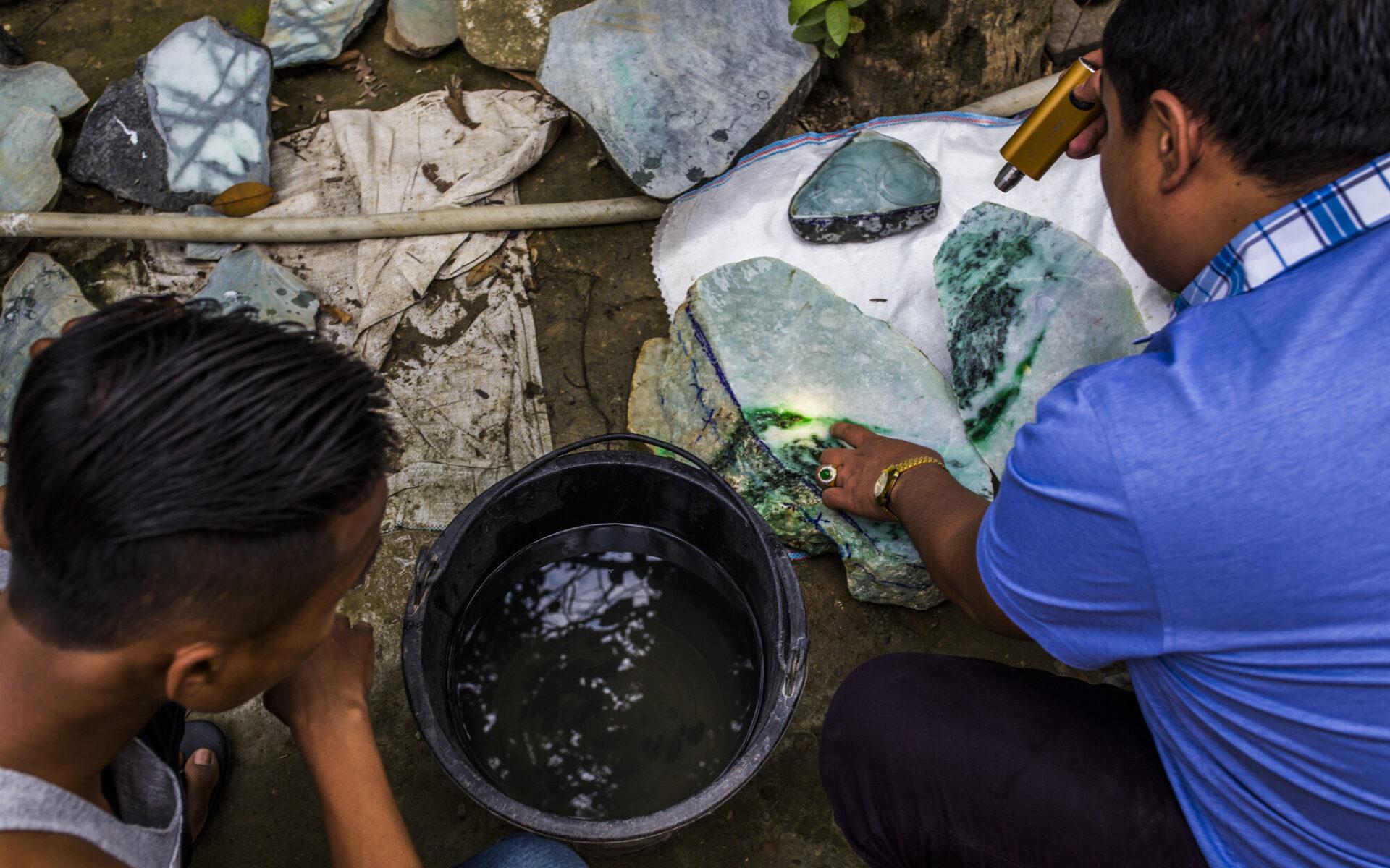 Jadehandlare i Myanmar