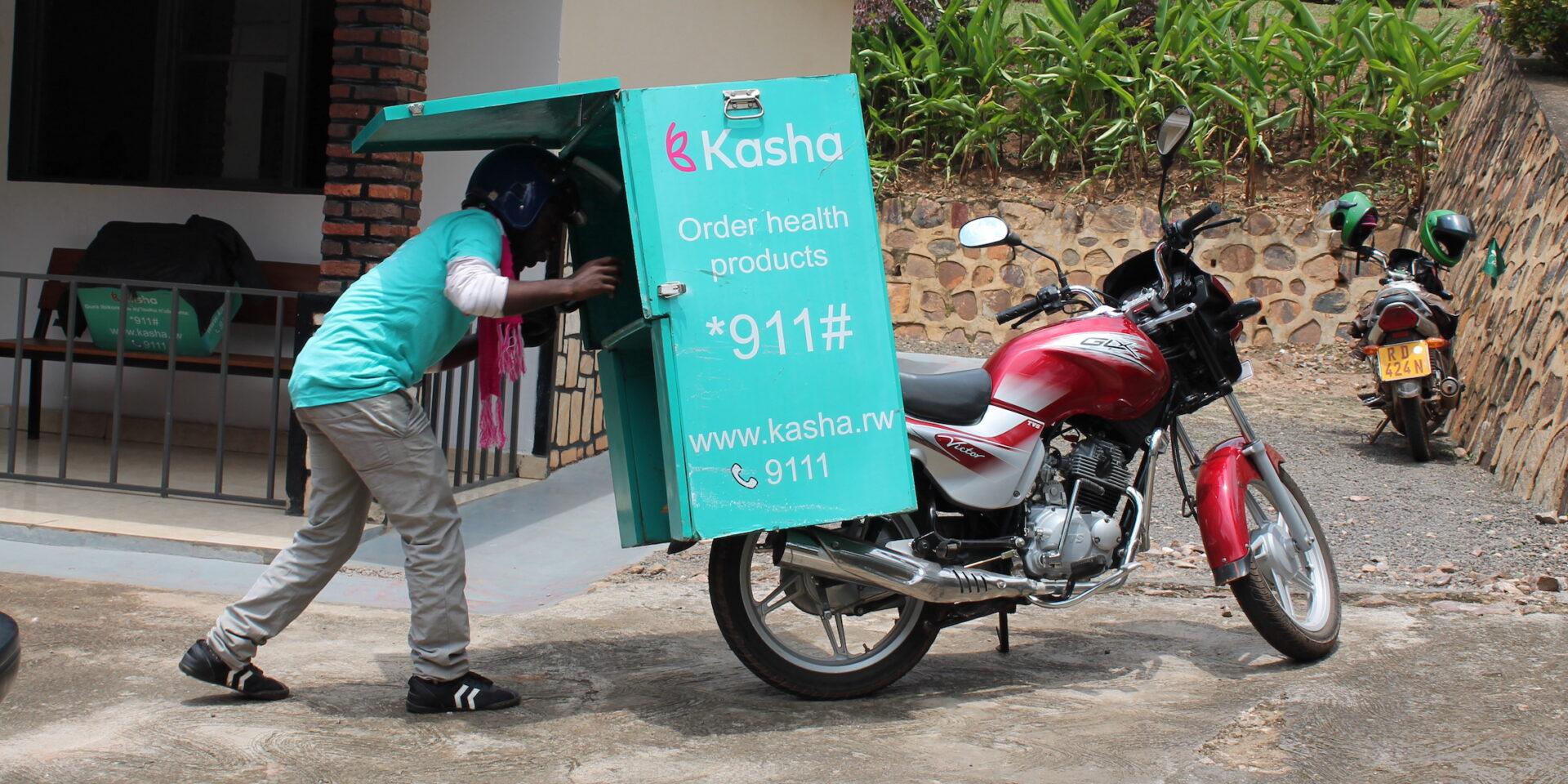 Företaget Kasha levererar preventivmedel till kvinnor på motorcykel