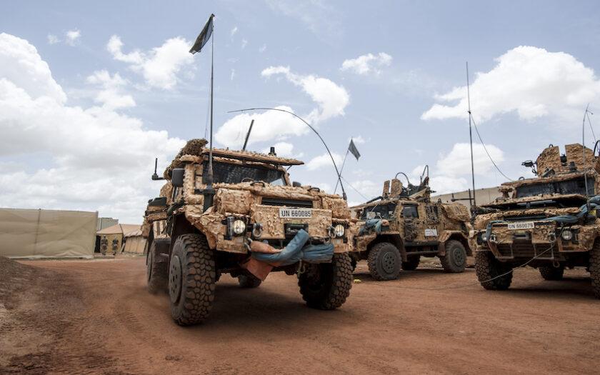 Svenska FN-soldater på Camp Nobel utanför Timbuktu, i Mali