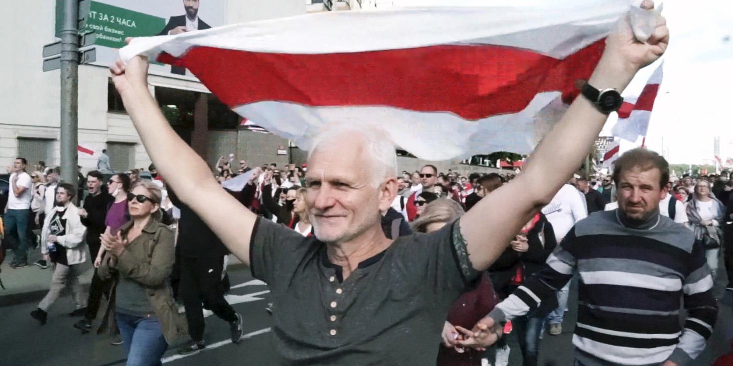Alex Bialiatski, en av de fängslade i människorättsorganisationen Viasna.