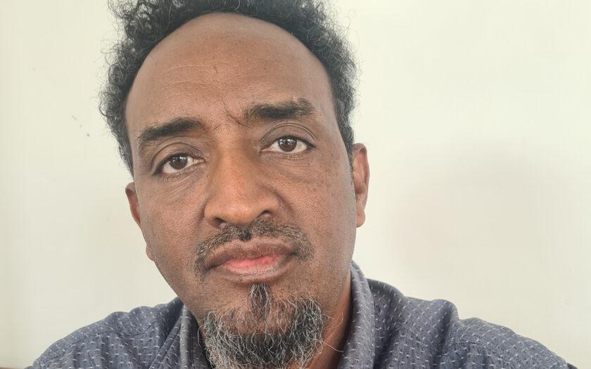 Gebre Selassie Araya, tigrean som bor i Malmö har inte längre någon kontakt med sin familj i Tigray.